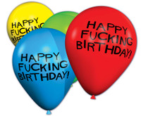 "11"" Happy F*cking Birthday Balloons - Bag Of 8"