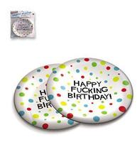 "7"" Happy F*cking Birthday Plates - Bag Of 8"