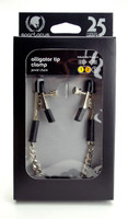 Adjustable Alligator Nipple Clamps Includes Silver Chain