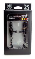 Adjustable Alligator Nipple Clamps Includes Black Chain