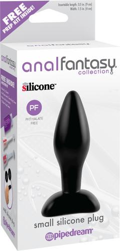 Anal Fantasy Collection Small Silicone Butt Plug - Black