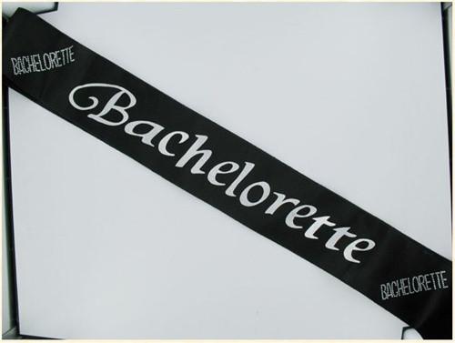 Bachelorette Non Flashing Sash - Black