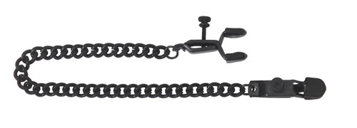 Adjustable Alligator Nipple Clamps Includes Black Chain