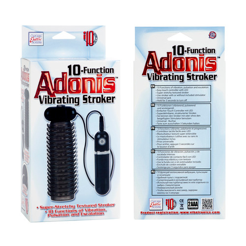 Adonis 10 Function Vibrating Stroker - Smoke