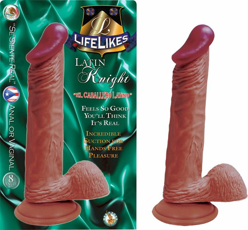 """Lifelikes 8""""Latin Knight Includes Suction Cup"""