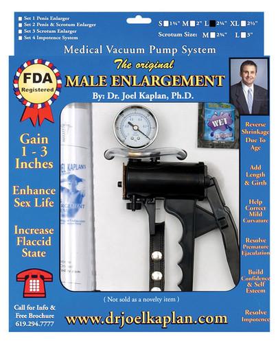 """Dr. Joel Kaplan Large Male Enlargement Pump System 2.25"""" I.D."""