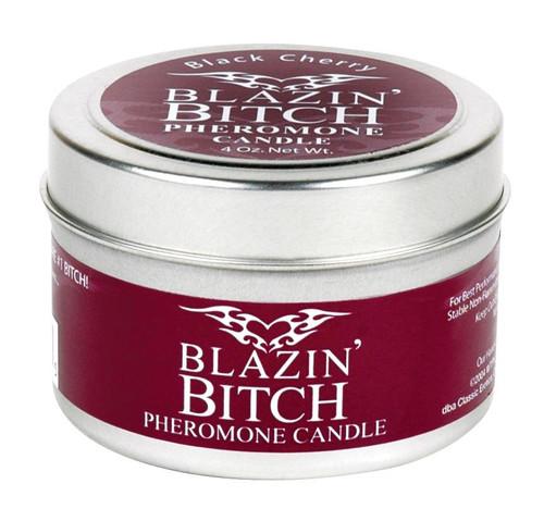 Blazin' Bitch Pheromone Soy Massage Candle - 4 oz Black Cherry