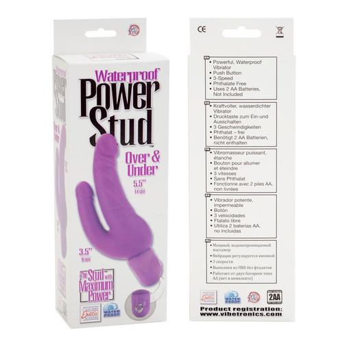 Power Stud Waterproof Over & Under Dong - Purple