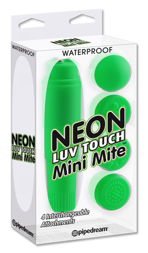 Neon Luv Touch Mini Mite Waterproof - 4 Interchangeable Heads Green