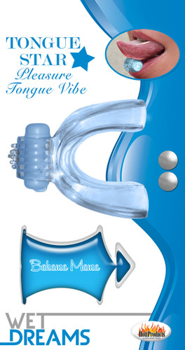 Tongue Star VibeWith 10 Ml Liquor Lube Pillow - Blue