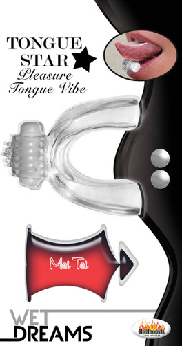 Tongue Star VibeWith 10 Ml Liquor Lube Pillow - Clear