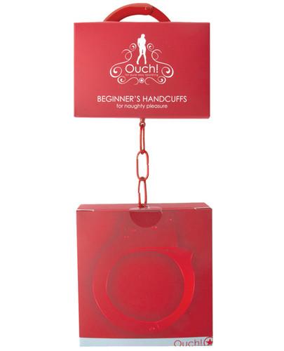 Shots Ouch Beginner Handcuffs - Red