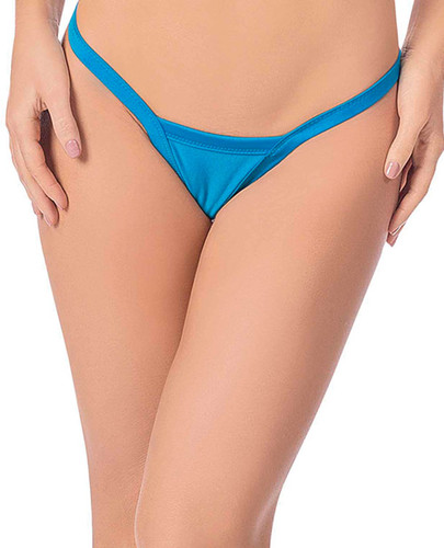 Deep V-back Thong Ocean Blue One Size Fits All