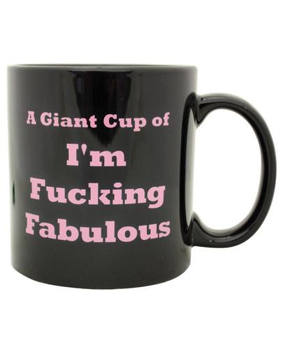 Attitude Mug A Giant Cup Of I'm Fucking Fabulous