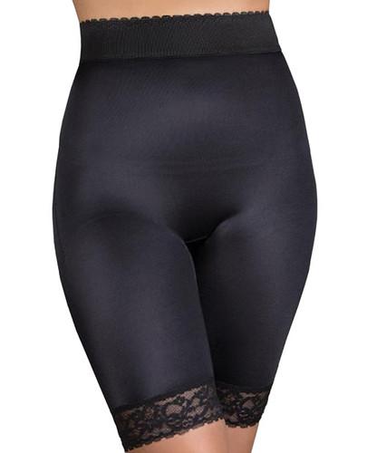 Rago Shapewear Long Leg Shaper With gripper Stretch Lace Bottom Black 10x