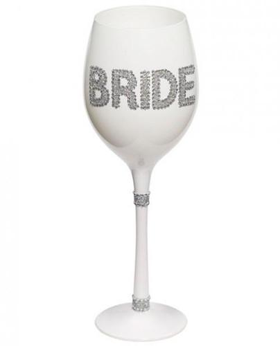 Bride Wine Glass White