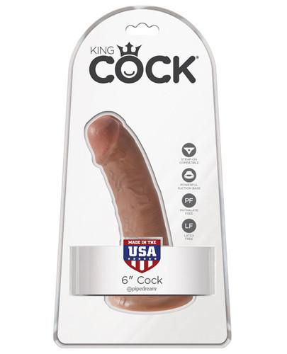 """King Cock 6"""" Cock - Tan"""