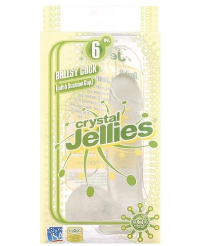 "Crystal Jellies 6"" Ballsy Cock - Clear"