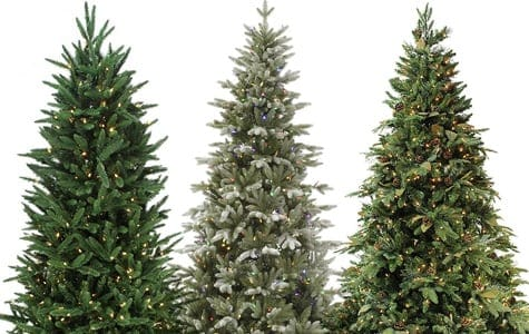 Artificial Pre Lit Unlit Christmas Trees Residential