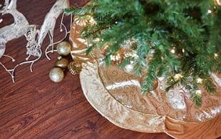 Gold Christmas Tree Skirt