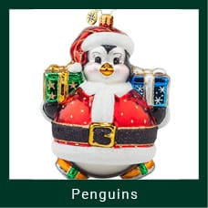 Christmas Themed Penguin Ornament