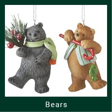 Christmas Themed Bear Ornaments