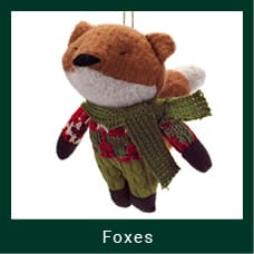 Christmas Themed Fox Ornament