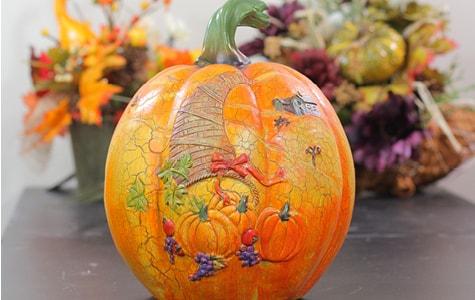 Pumpkin With Turkey Design