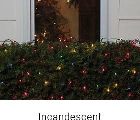 incandescent light led christmas lights
