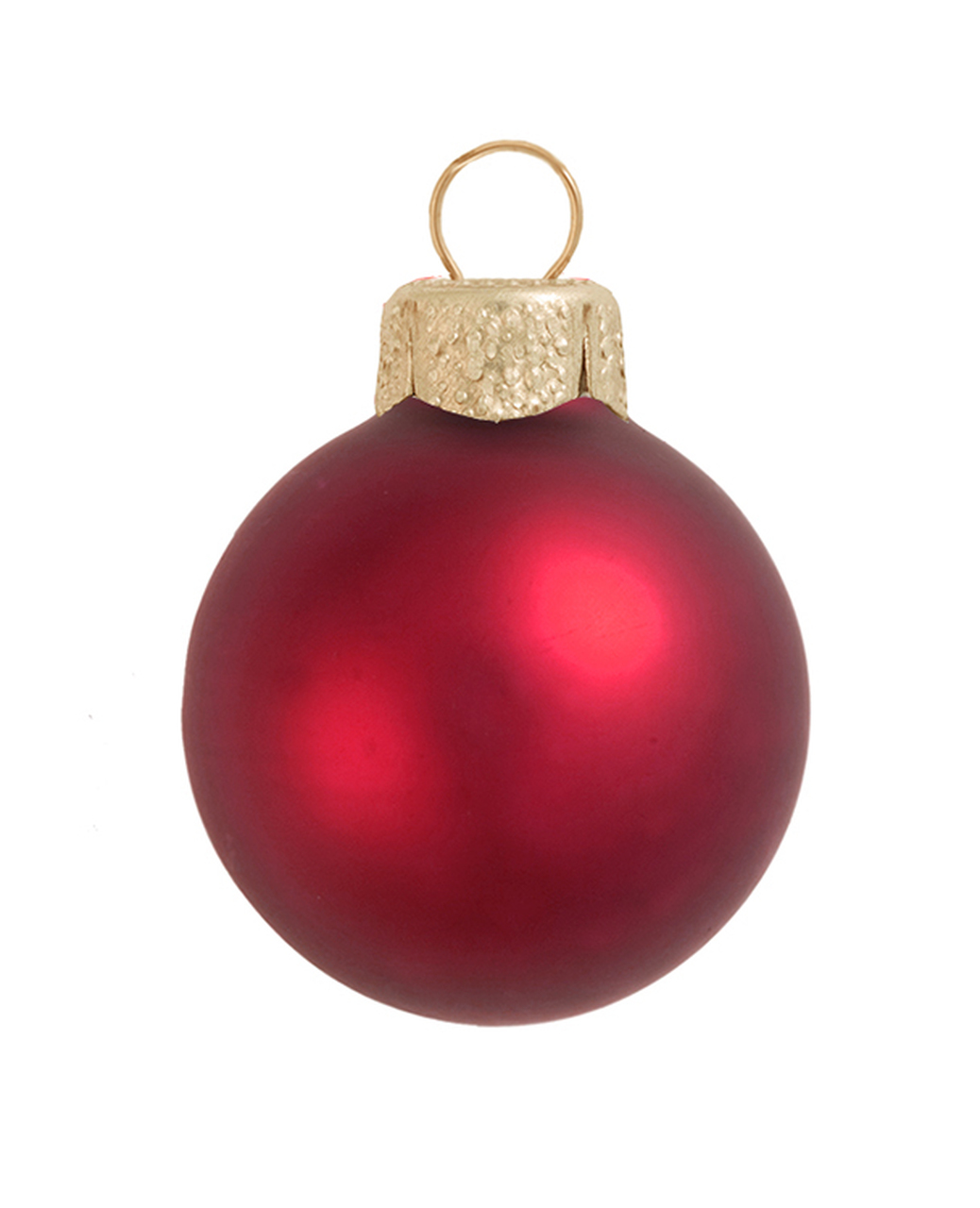 28ct Matte Red Xmas Glass Ball Christmas Ornaments 2 50mm