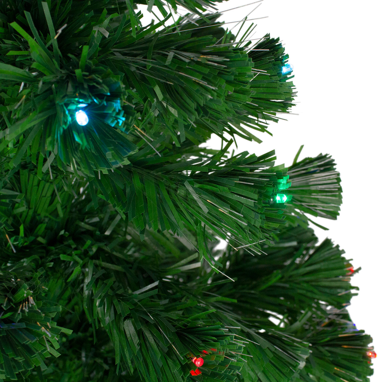 4\' Pre-Lit LED Color Changing Fiber Optic Christmas Tree with Star ...