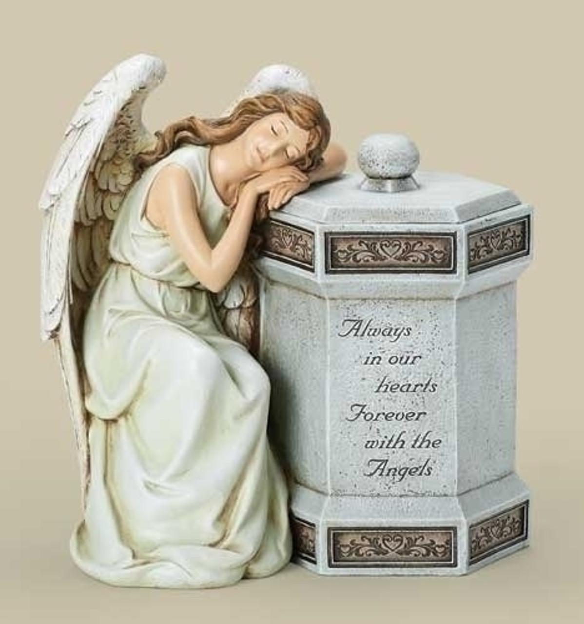 125 Josephs Studio Sleeping Angel Always In Our Hearts Memorial Keepsake Box