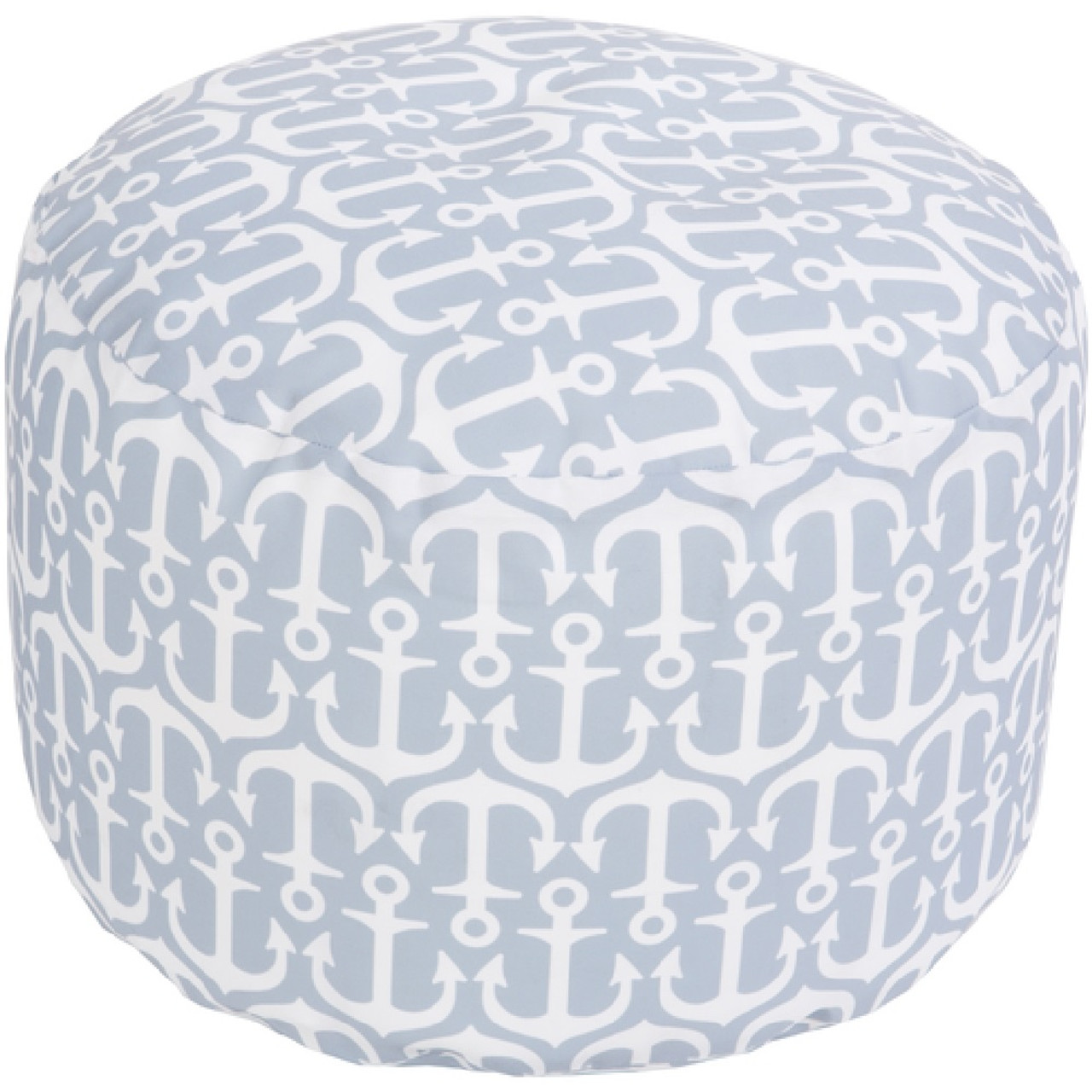 13 light gray ivory anchor away round outdoor patio for Ulani outdoor round pouf ottoman
