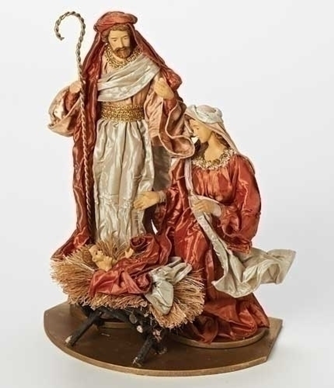 """Holy Family Admires Jesus Nativity Religious Christmas: 13"""" Vibrantly Colored Have Faith Religious Holy Family"""