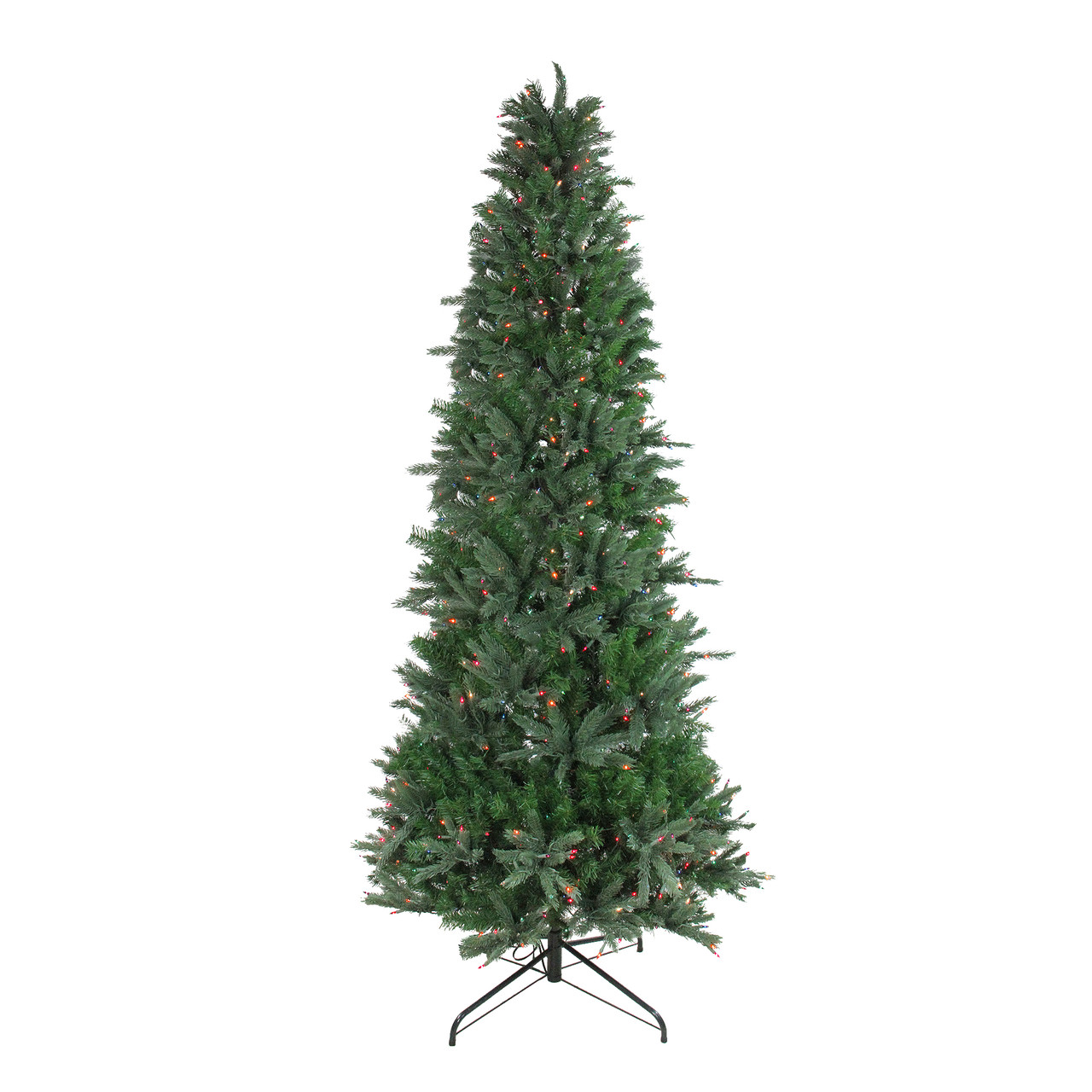 9.5\' Pre-Lit Slim Vermont Fir Instant Shape Artificial Christmas ...