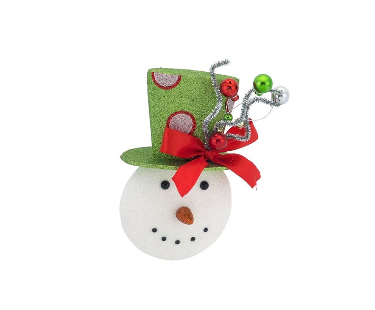 8 sparkling snowman wearing a festive green top hat christmas ornament 32263441 - Top Hat Christmas Decorations