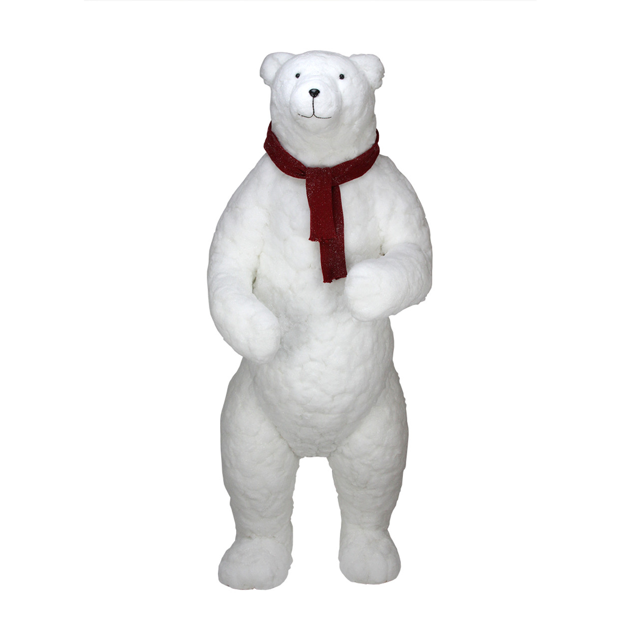 6 commercial standing plush white polar bear christmas decoration 31462437 - Polar Bear Christmas Decorations