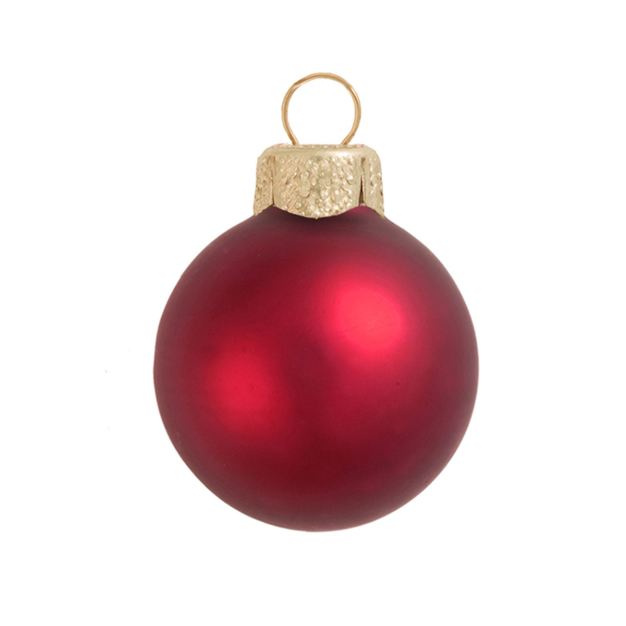 12ct matte red xmas glass ball christmas ornaments 2 75 70mm