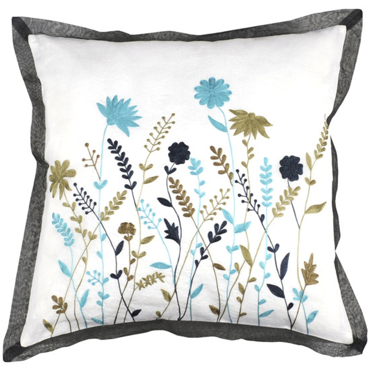 Blue Down Throw Pillows : 22