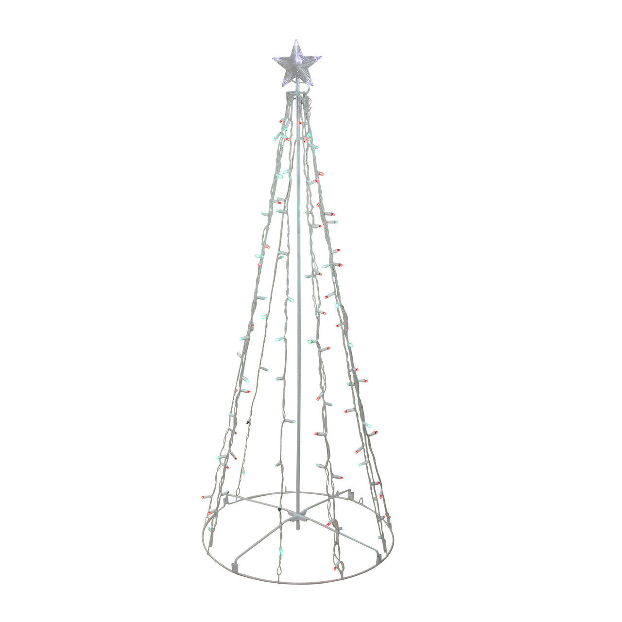 5 red green led lighted outdoor twinkling christmas tree outdoor decoration 23148639