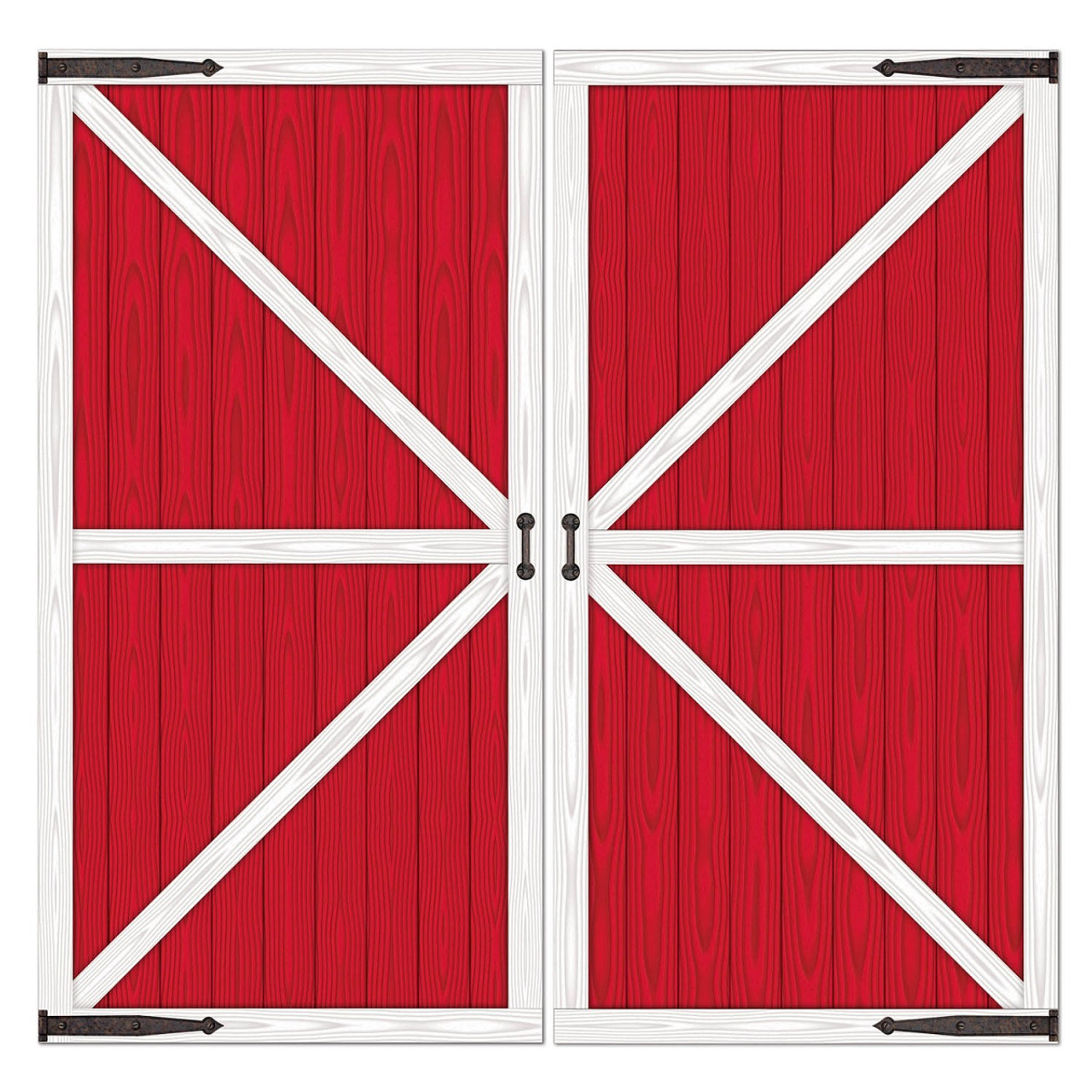 Pack Of 6 Red Barn Door Backdrop Wall Decorations 365 X 64