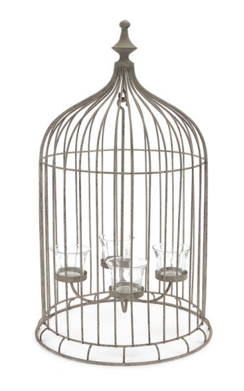 23 Rustic Antique Style Bird Cage 4 Tea Light Candle Holder 31355938