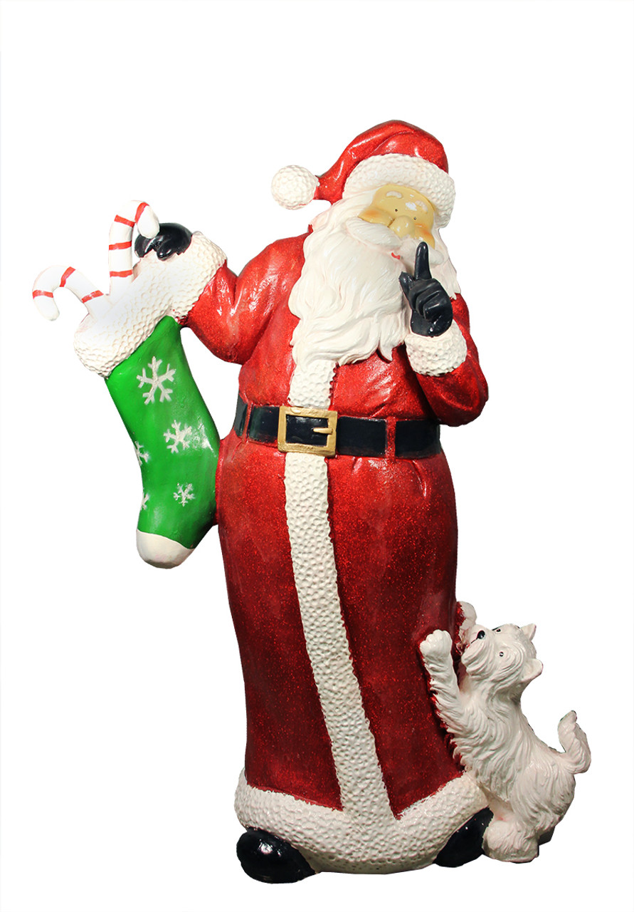 485 commercial size santa claus with puppy dog christmas outdoor decoration christmas central