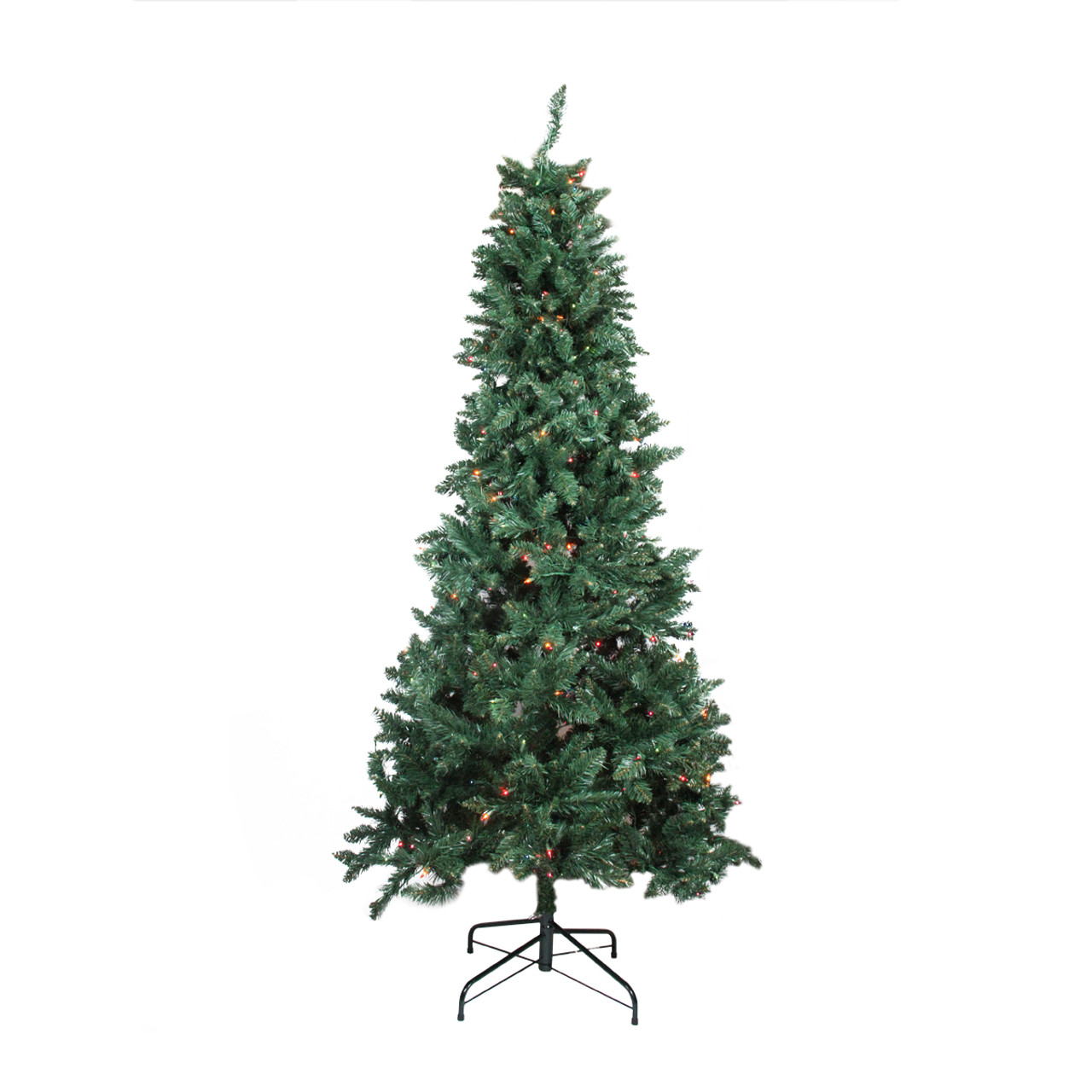 7.5\' Pre-lit Slim Pine Artificial Christmas Tree - Multi-Color ...