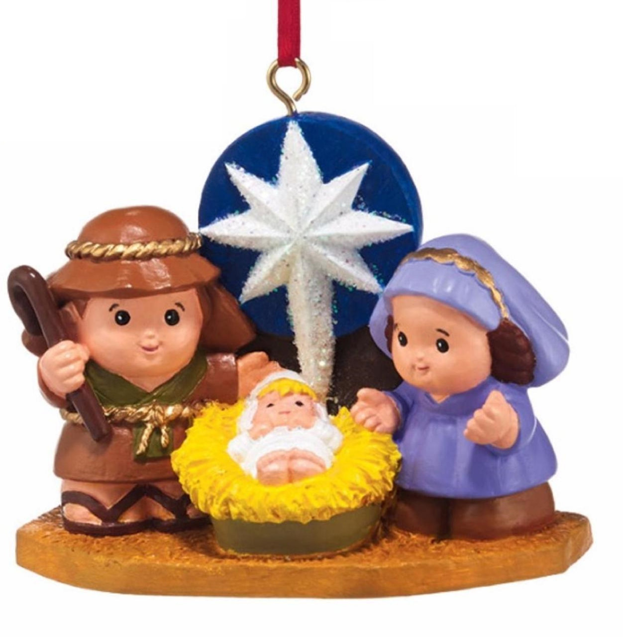 department 56 fisher price little people nativity christmas ornament 4037443 christmas central