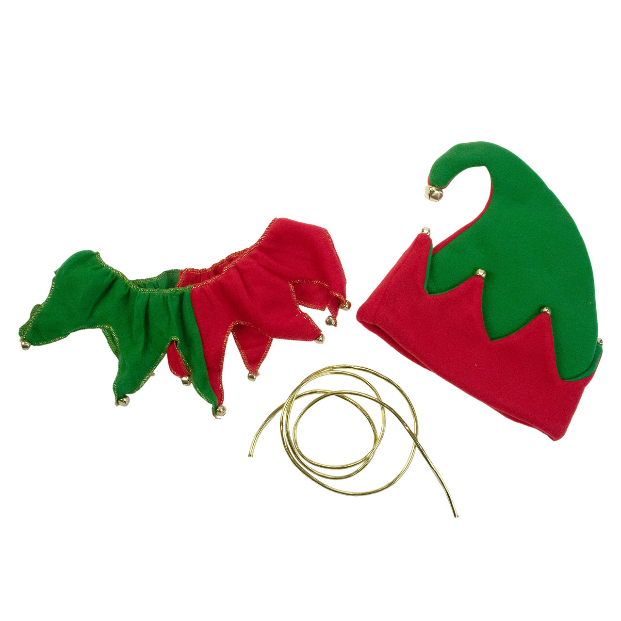 red and green unisex adult 5 piece christmas elf costume set adult menswomens plus size 5699962 - Christmas Elf Costume