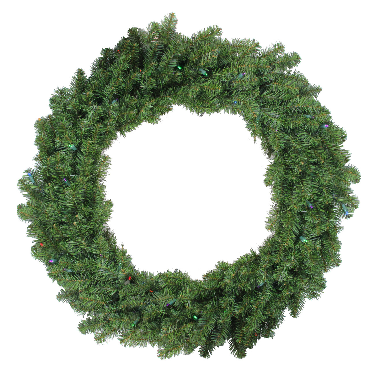 36 pre lit battery operated canadian pine christmas wreath multi led lights 23149027 - Pre Lit Christmas Wreaths Battery Operated