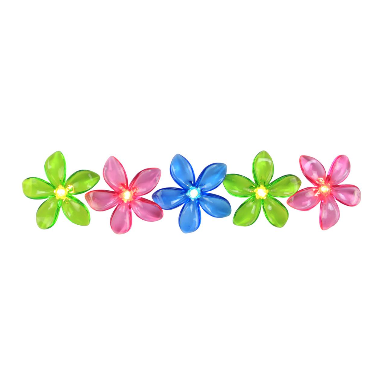 Set Of 10 Pink Blue Amp Green Flower Patio Amp Garden Novelty