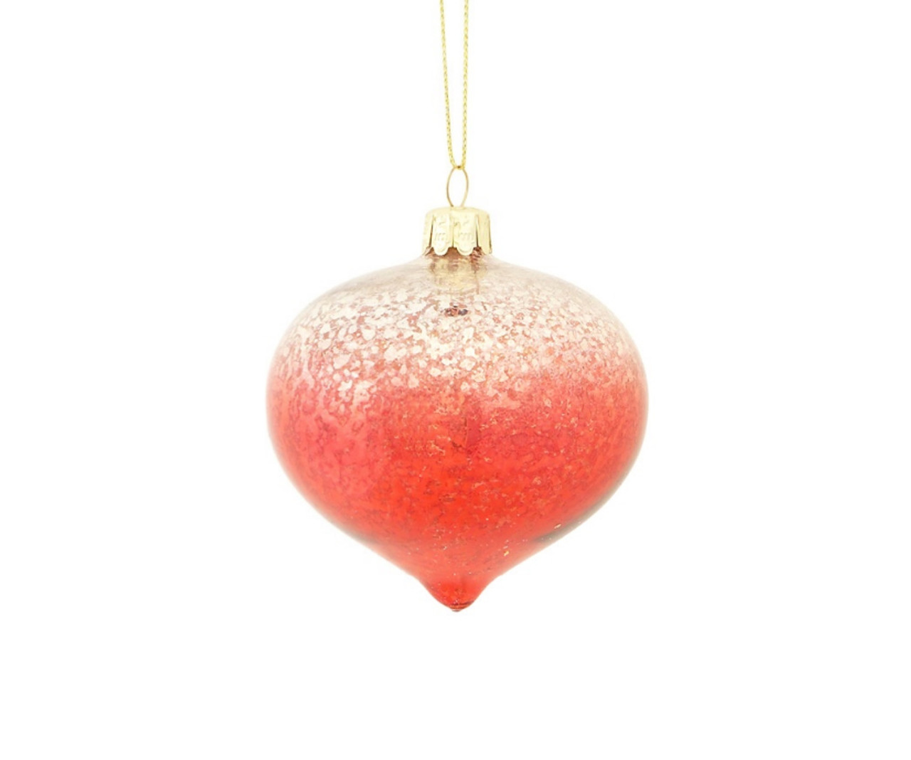 3 crimson red and silver ombre mercury glass onion shaped finial christmas ornament 31453174 - Red And Silver Christmas Ornaments