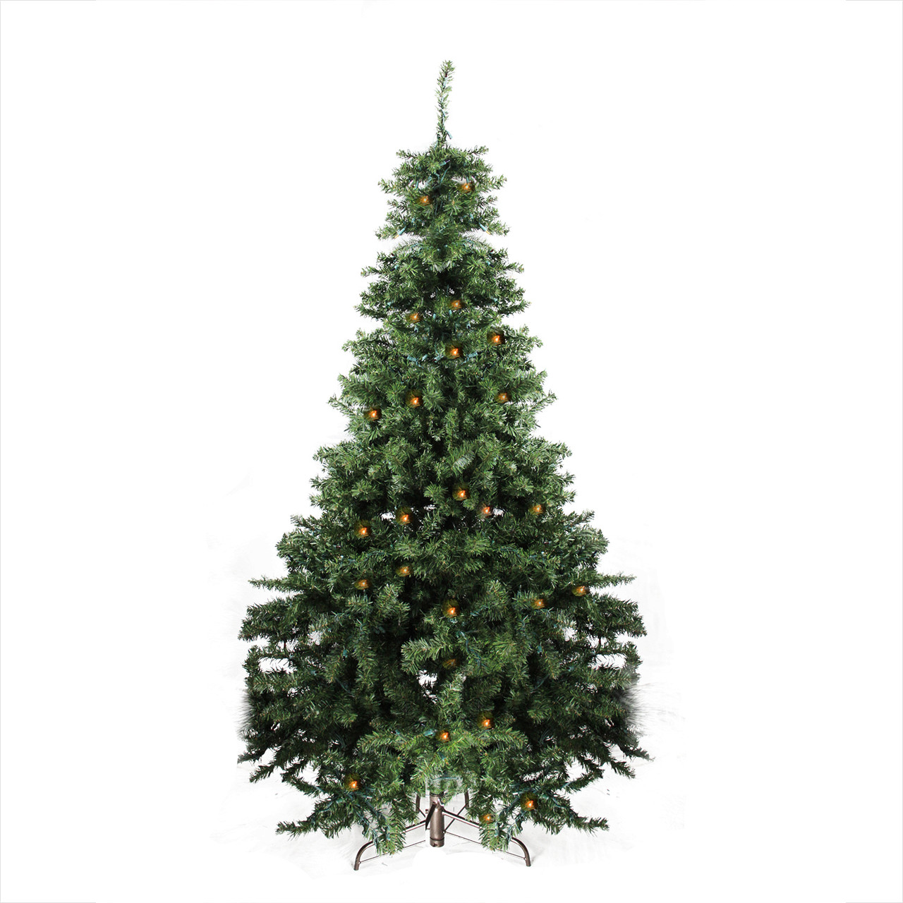 7' Pre-Lit Canadian Pine Artificial Christmas Tree - Candlelight LED ...
